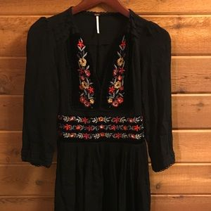 Free People Mexican Embroidery Dress XS